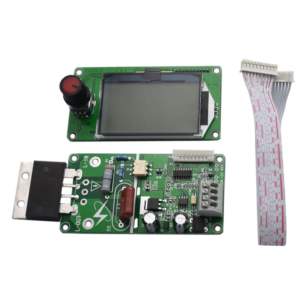 Taidacent 100/40A LCD Digital DIY Dual Pulse Spot Welder Controller For Battery Welder Transformer Spot Welding Controller Board