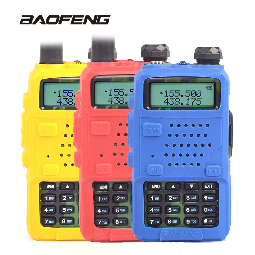 Baofeng UV-5R Rubber Case Walkie Talkie UV 5R Protector Cover CB Radio Station Silicone Bag Anti-moisture Dust For UV-5RA UV-5RE