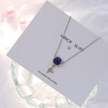 OBEAR Mermaid Foam Bubble Design szklany naszyjnik posrebrzany ogon syreny niebieski wisiorek naszyjnik dla kobiet elegancki prezent biżuterii