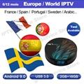 IPTV Abonnement Schwedisch Spanisch Französisch frankreich portugal brasil UK Polnischen IPTV Code M3U Enigma2 für HK1 max 2g 16 android tv box