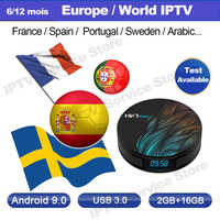 IPTV Subscription Swedish Spanish French france portugal brasil UK Polish IPTV Code M3U Enigma2 for HK1 max 2g 16 android tv box