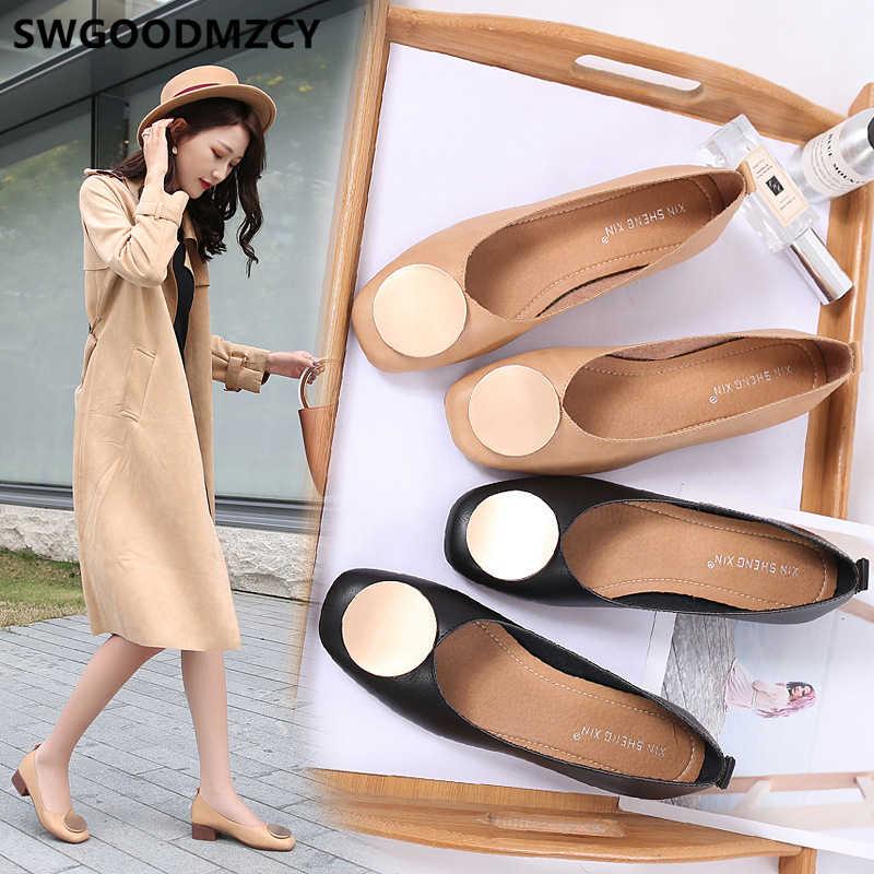Loafer'lar hakiki deri ayakkabı bayan eski ayakkabı kadınlar siyah Flats lüks marka ayakkabı kadınlar moda kayma Zapatos Mujer 2020