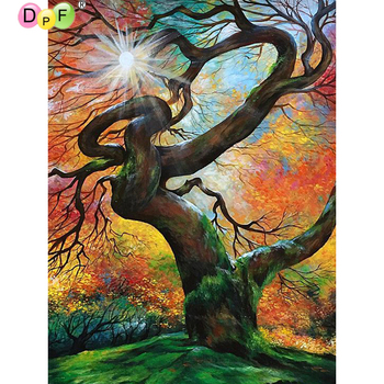 5D tree round/square Cross Stitch DIY Diamond Painting Diamond Embroidery kits Diamond Mosaic home Decorative drill image
