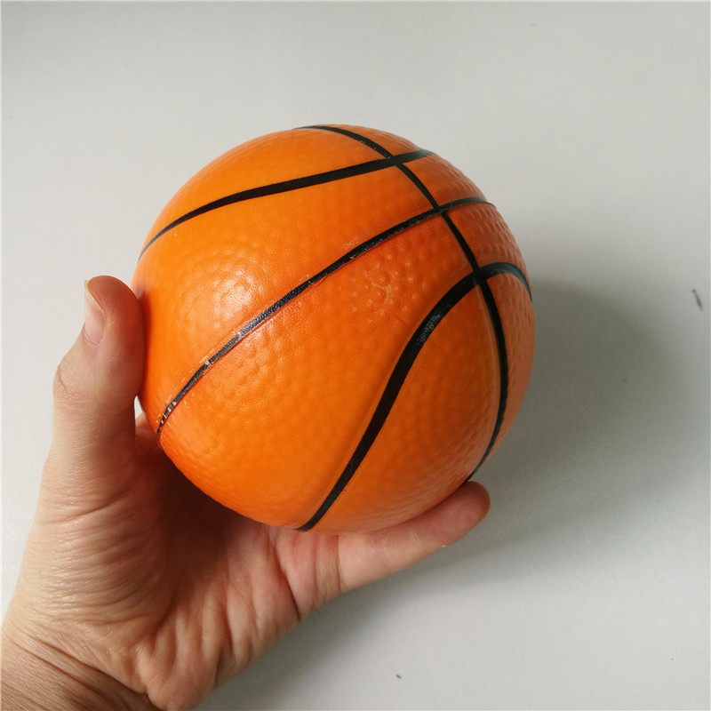 Toys Basketball Anti Stress Ball Soft Foam Rubber Balls Squeeze Squishy Stress Relif Toys For Kids Children 6.3cm/10cm