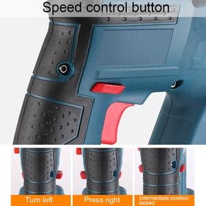 Image 4 - 21V Electric Hammer Cordless Lithium Ion Hammer Drill Electric Perforator impact hammer with LED light