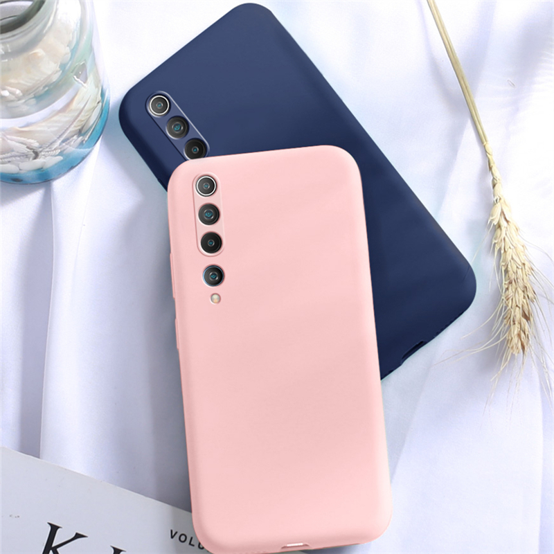 For Xiaomi Mi 10 5G Case Rubber Liquid Silicone Shockproof Soft Feeling Case For Xiaomi Mi 10 5G Case Cover For Xiaomi Mi 10 5G