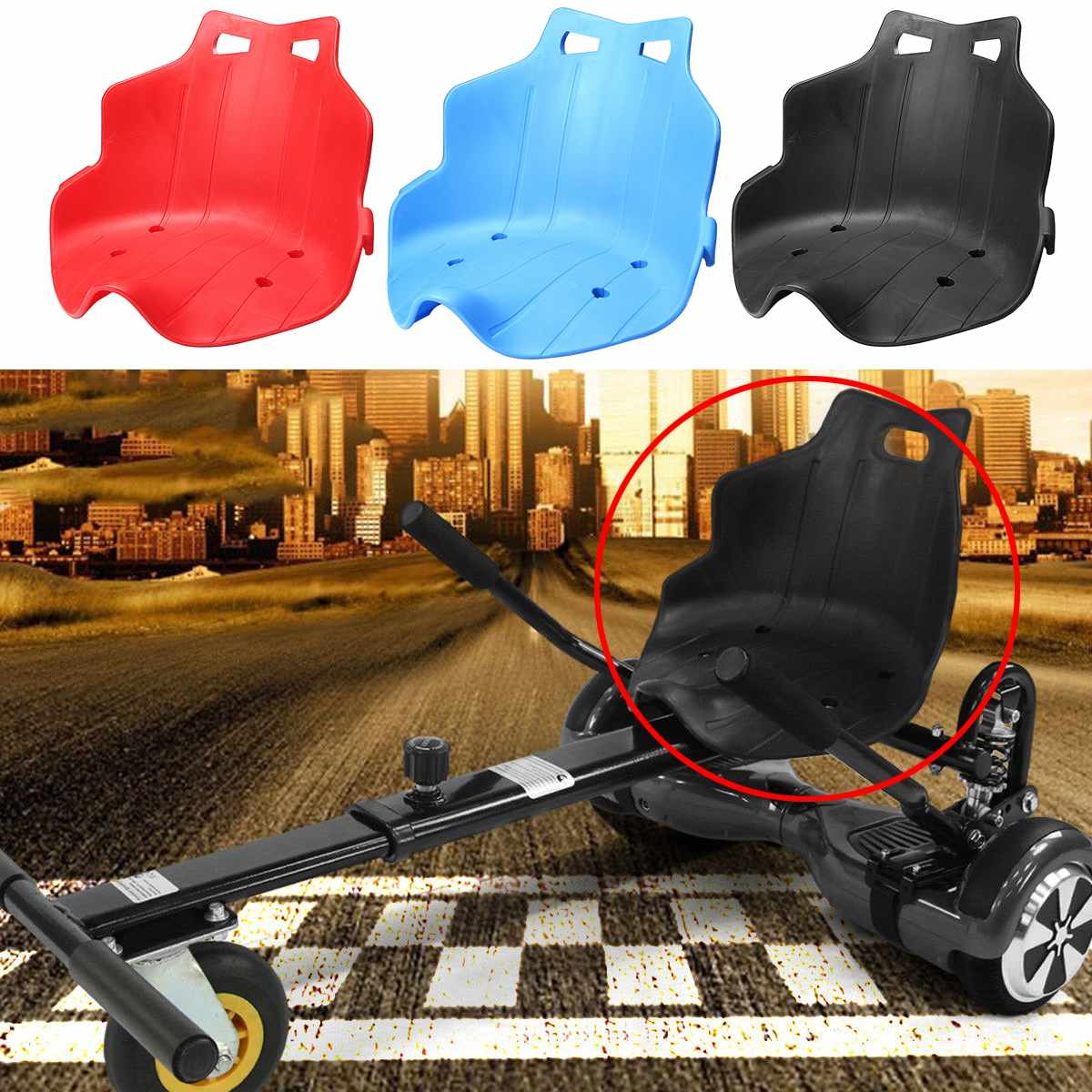 3 Color Plastic Seat Replacement Fit For Hover Cart Kart Hoverboard Stand Holder For Karting