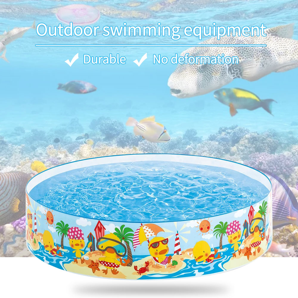 Family Plastic Cartoon Hard Swimming Pool Round Non-inflatable Pool Children's Play Pool Snorkel Buddies Snapset Pool