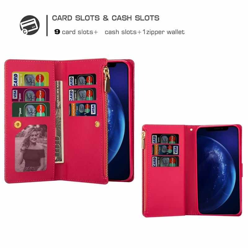 Bling Case dla Xiaomi Redmi 8A uwaga 8 Pro 9 K30 brokat portfel skórzany na zamek błyskawiczny odwróć kartę stań pokrywy dla Xiaomi Mi 10 Pro 9 Coque