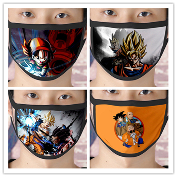 1 Pc Anime Dragon Ball Z Son Goku /Oolong Dust-proof Breathable Washable Reusable Mouth Mask for Unisex Adult