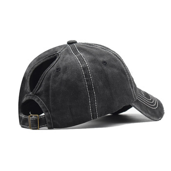 SLECKTON 2020 Casual Ponytail Cotton Baseball Cap Fashion Snapback Visors Caps Hip Hop Fitted Cap Embroidered Sun Hats for Women 4