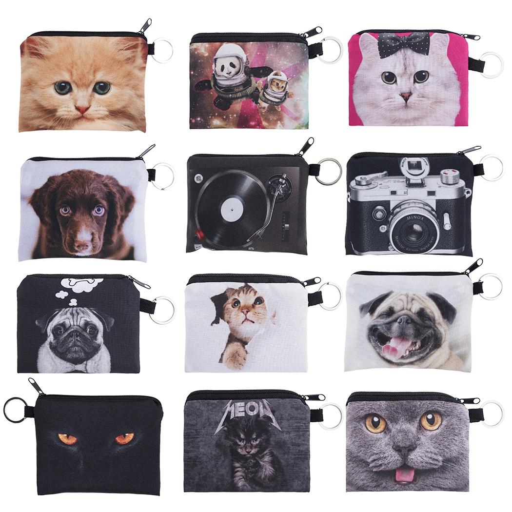 Cute Animal Women Printing Coin Purses Girl Wallet Ladies Clutch Change Purse Female Mini Money Bag PU Leather