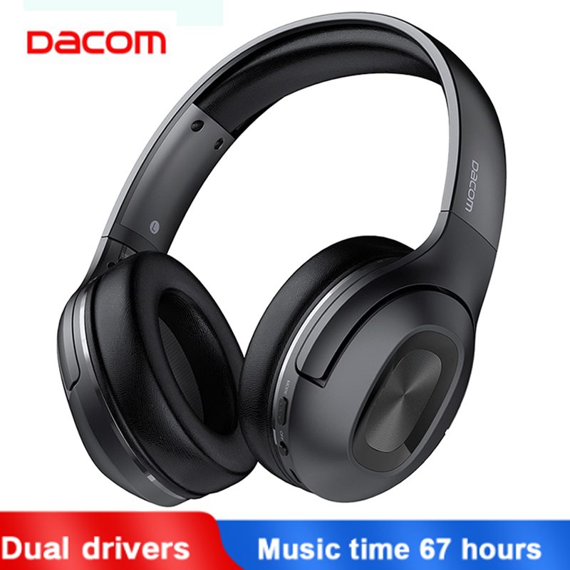 Dacom HF002 Headphones Bluetooth Earphone Wireless Headphone Over Ear Headset 5.0 Head Set Phones With Mic For Phones Computer