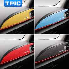 Tpic Alcantara Auto Center Console Panel Instrument Stickers M Prestaties Decals Cover Auto Interieur Voor Bmw F20 F21 F22 F23 lhd