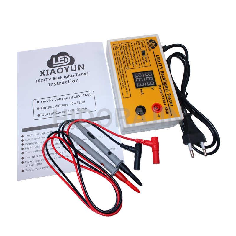 Prueba de luz LED de fondo para TV, 1 unidad de 0 a 320V, probador de tiras LED, herramienta de prueba con pantalla de corriente y voltaje para todas las aplicaciones LED