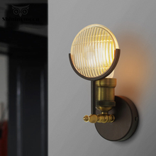 Vintage Industrial Wall Lamp Modern LED Iron Metal Wall Light Garden Wall Sconce Lamp Living Room Stair Aisle Bedside Wall Light bedroom light study wall lamp iron long arm rocker wall lamp bedside light industrial style adjustable wall light bathroom