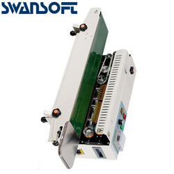 SWANSOFT FR770 Continuous Band Sealer Horizontal Bag Sealing Packing Machine 110V CA