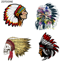 ZOTOONE Iron on Cool Skull Pathes for Clothing DIY  Handmade Heat Transfers Print T-shirt Dresses Washable Stickers G