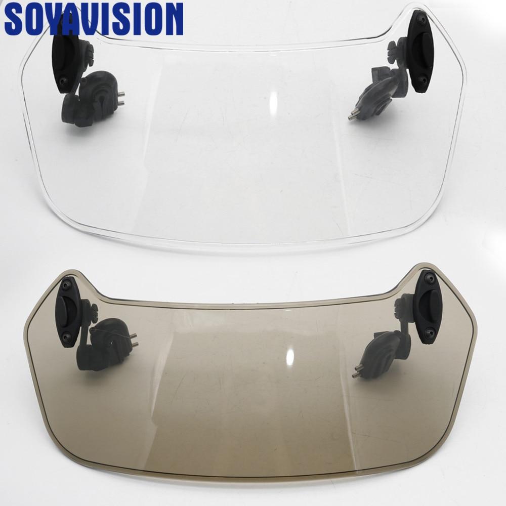 Universal Motorcycle Risen Adjustable Wind Screen Windshield  Spoiler Air Deflector for Honda BMW F800 R1200GS KAWASAKI  YAMAHAWindscreens