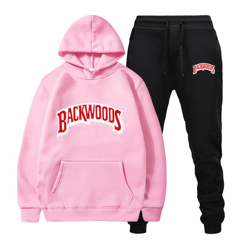 fashion brand Backwoods Men's Set Fleece Hoodie Pant Thick Warm Tracksuit Sportswear Hooded Track Suits Male Sweatsuit Tracksuit 3
