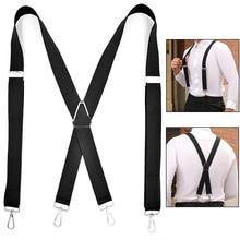 Shirt Suspenders Heavy-Duty Strap Braces Trousers Pants Tirante Bretele Men for Men-X-Back