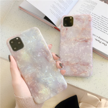 Glitter fritillaria marble shell for phone iphone 11 case xs max xr x 7 8 bling sparkling gradient