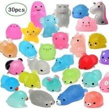 RCtown, 30 шт., мягкие игрушки Mochi, блестящие мини игрушки в форме животных, мягкие игрушки, вечерние игрушки для детей, игрушки для снятия стресса, рождественские подарки