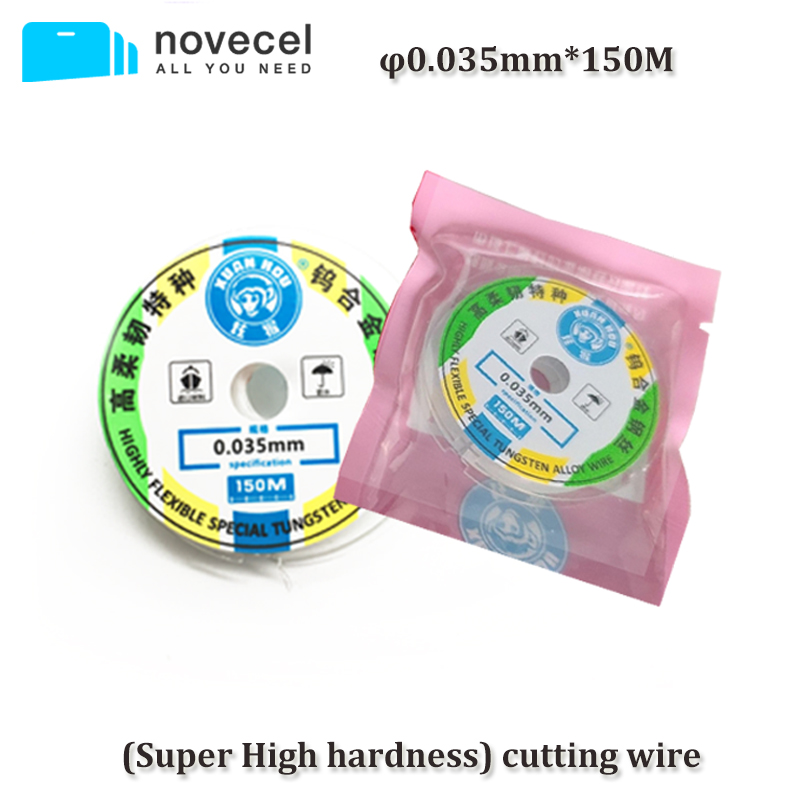 100m 0.10mm Gold Alloy Molybdenum LCD Cutting Wire Separator Glass Lens