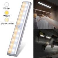 20 czujnik ruchu led lampka do szafy możliwość przyciemniania bezprzewodowych świateł do szafki schodowej 2019ing w Oświetlenie mebli od Lampy i oświetlenie na