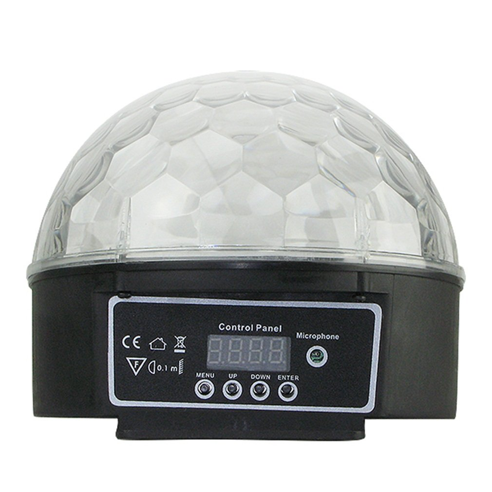 DMX512 RGB LED DJ Stage Lighting Ball Magic Laser Light Voice-activated