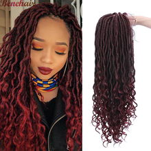 Benehair 27 Inches Goddess Faux Locs Wig With Curly Ends 4×4