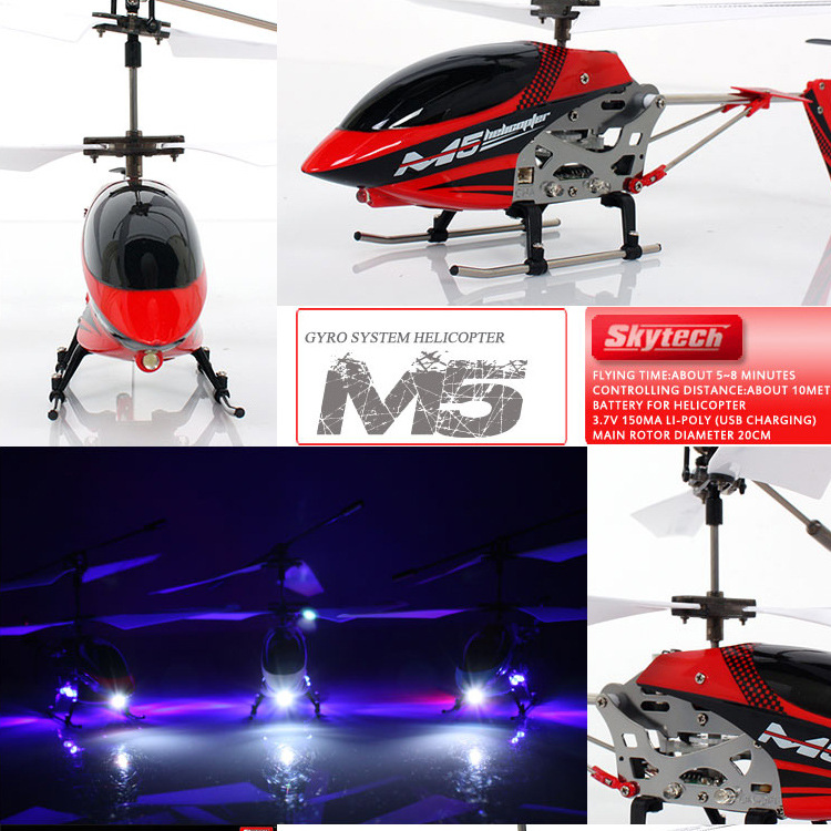 Hot Selling 3.5 Way Drop-resistant Alloy Remote Control Aircraft Charging Helicopter Airplane With Gyroscope Aviation Model