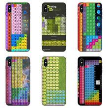 Piel suave del teléfono tabla periódica de elementos para Galaxy A8 A9 estrella Nota 4 8 9 10 S3 S4 S5 S6 S7 S8 S9 S10 borde Lite Plus Pro G313