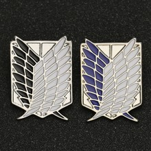 Serangan Di Titan Bros Pin Wings Of Liberty Kebebasan Pramuka Resimen Legiun Survei Recon Corp Eren Lencana Anime Perhiasan Grosir(China)