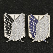 Brooch-Pin Wings Anime-Jewelry Titan Eren-Badge Attack Liberty Legion-Survey Recon Scout