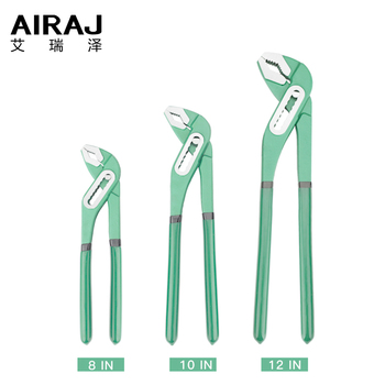 AIRAJ 8/10/12 Inch Adjustable Water Pump Pliers Household Plumbing Quick Repair Combination Wrench Hand Tool airaj 8 10 12 inch industrial heavy duty pipe wrench adjustable anti corrosion rust and plumbing repair tools