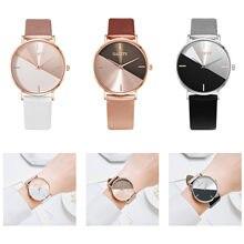 Vrouwen Fashion Horloges 201 Kleding Accessoires Licht Luxe Geometrische Stiksels Stijl Elegante Vrouw Horloge Часы Мужские Наручные