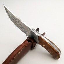"""Couteau de chasse tactique 8 """", manche en bois en 440, couteaux de poche de survie, pour le Camping, couteau droit, pour le sauvetage en plein air, outils EDC"""