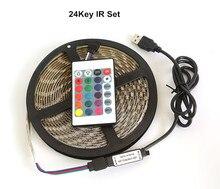 RGB Luces LED Strip 5V USB Led Lights 5050SMD Led Light Strips for DIY TV Backlight Lamp 24Keys Bluetooth Control 60LEDs/M Lamps