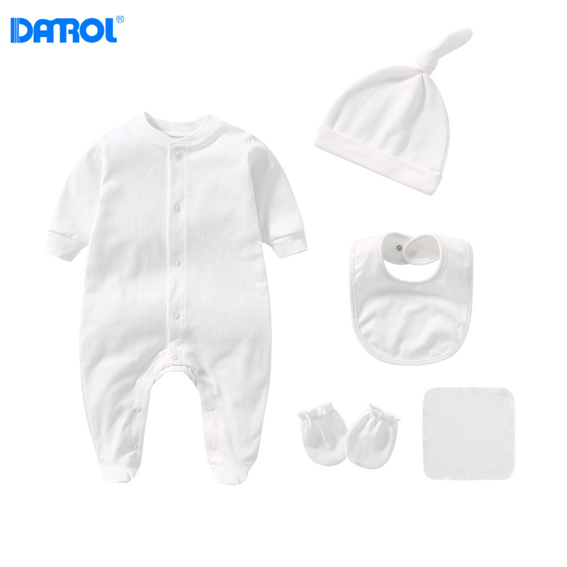 Infant Pure Cotton Romper Crawling Clothes BABY'S FIRST Month Baby Newborns Clothes 0-3 Month Direct Supply Collocation Gift Set