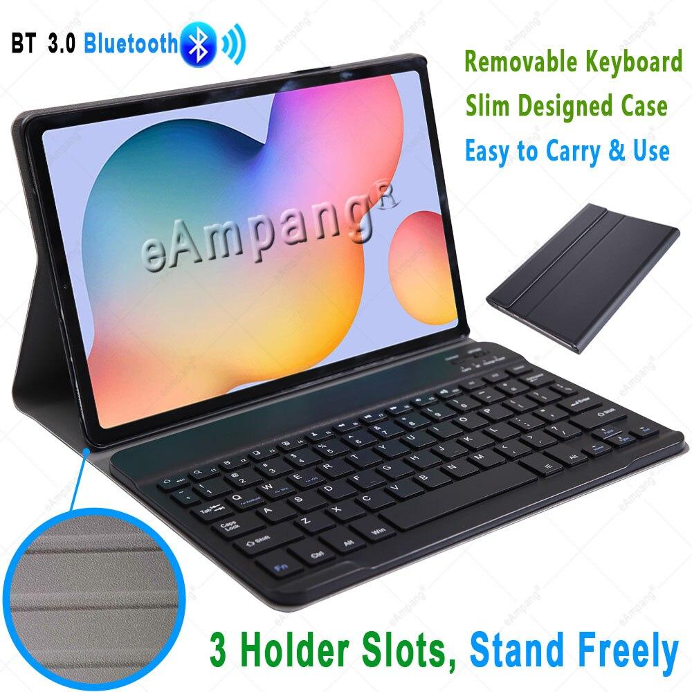 Чехол для Samsung Galaxy Tab S6 Lite 10,4, чехол для клавиатуры Tab S6 10,5, S7 11, чехол с русской, испанской, английской, корейской Bluetooth клавиатурой-4
