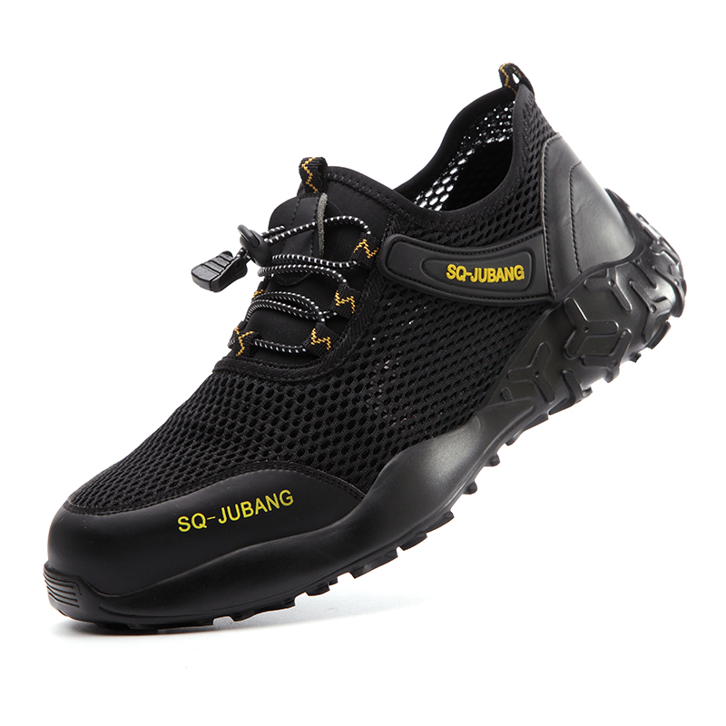 Dropshipping Men And Women Steel Toe Air Safety Boots Indestructible Ryder Shoes Light Work Sneakers Breathable Safety Shoes