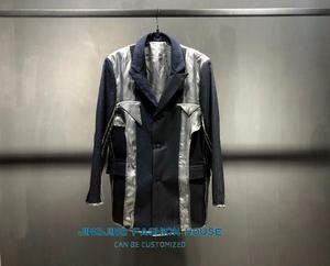 2020 костюм в полоску, одежда с обратной стороны, деконструкция, костюм для мужчин и женщин, свободная некорейская версия
