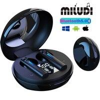 T15 TWS Drahtlose Bluetooth Ohrhörer Wasserdicht Sport Musik Ohrhörer Surround Sound Touch Control Kopfhörer Für Alle Smartphones