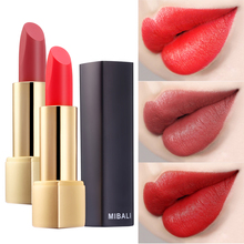 MIBALI Lipstick Matte Velvet Waterproof 8-Color Easy to Wear Lip Makeup Long lasting Nude Silky Touch High Quality Cosmetics