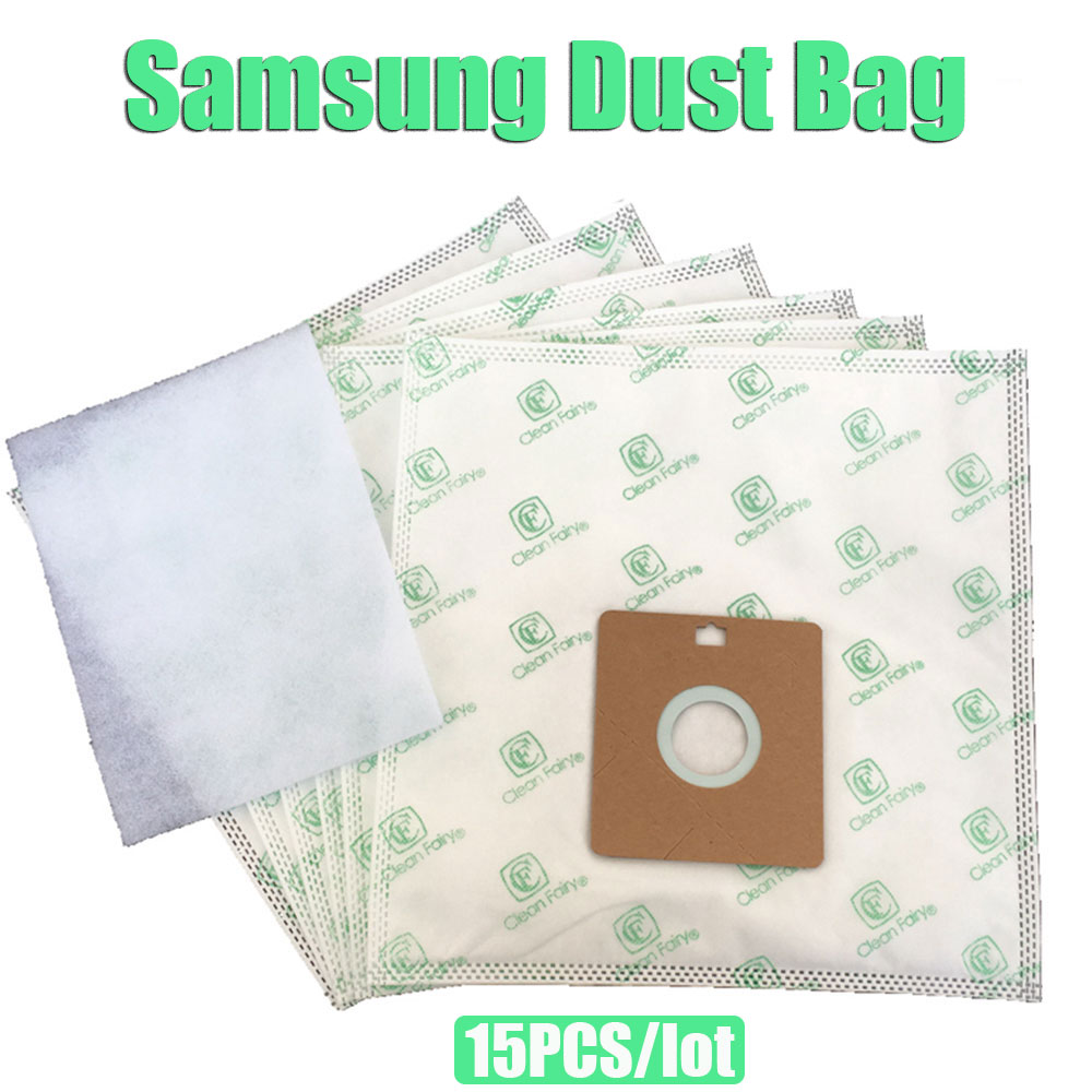 15X Vacuum Cleaner Bags Replacement Samsung VP77 SC4180 SC4181, AEG GR.50, Smart 300...366, Nilfisk GM50 55 Menalux 5100