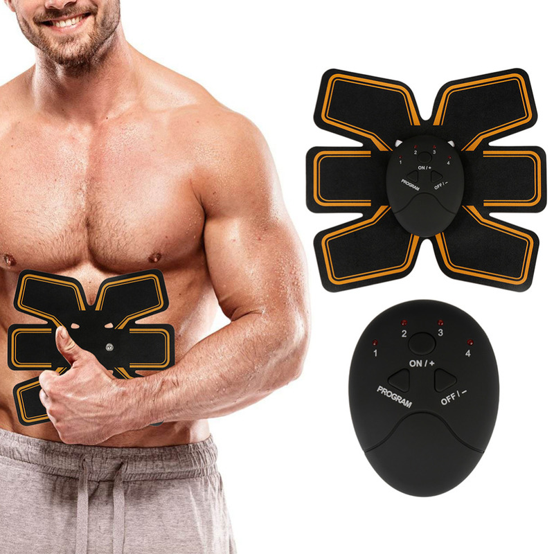 Newest Wireless Smart EMS Fitness Electric Massager Abdominal Muscle Toner ABS Fit Muscle Stimulator Abdominal Muscles Trainer