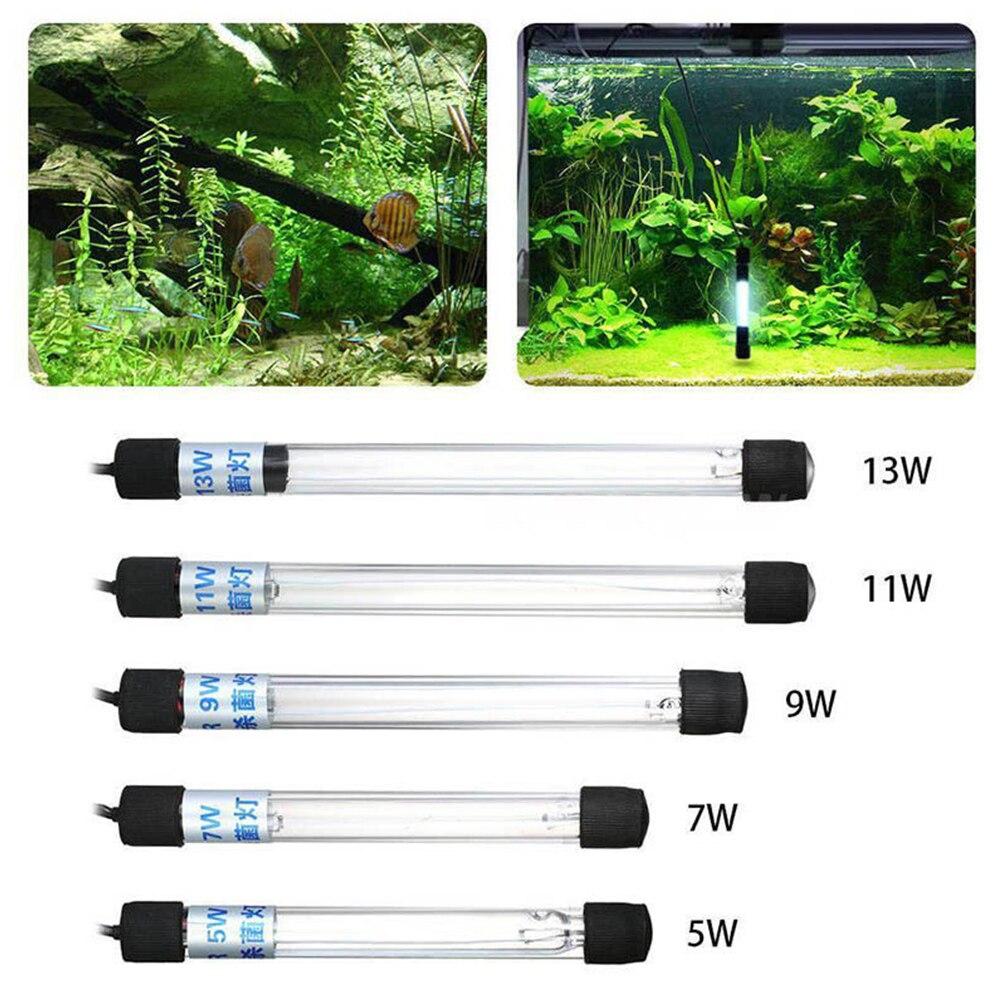 Lámpara de acuario UVC lámpara esterilizadora lámpara UV iluminación tanque de peces de acuario bactericida UV desinfección purificador de tratamiento de agua 5 uds 4mm/0,16