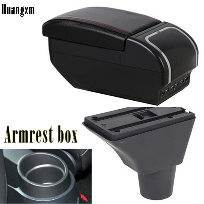 Для Seat ibiza подлокотник коробка для хранения содержимого центрального магазина подлокотник для сиденья Коробка с подстаканником пепельница...