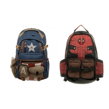 Disney Marvel Captain America Deadpool Backpack Travel Laptop Bag School Bags For Students And Adults
